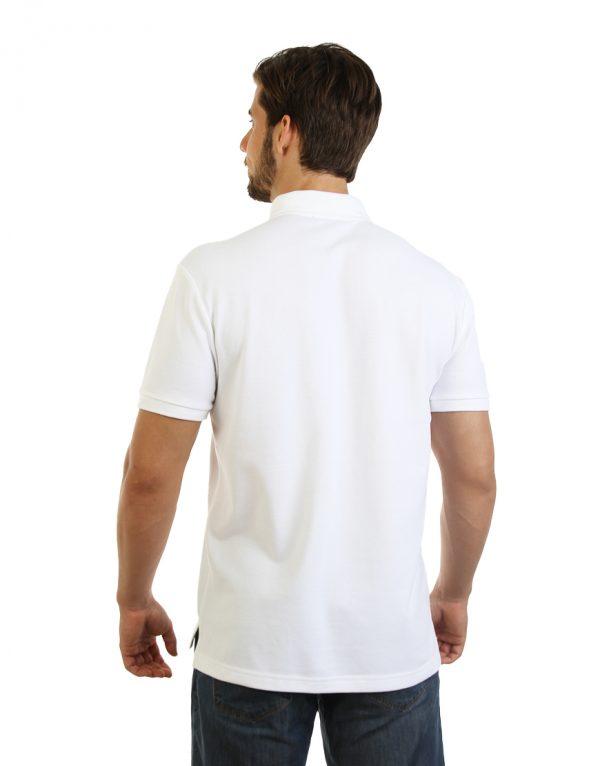 Men's long durability Modern Fit Polo Print Back