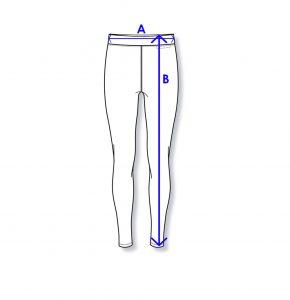 Women Active Fit Legging size guide