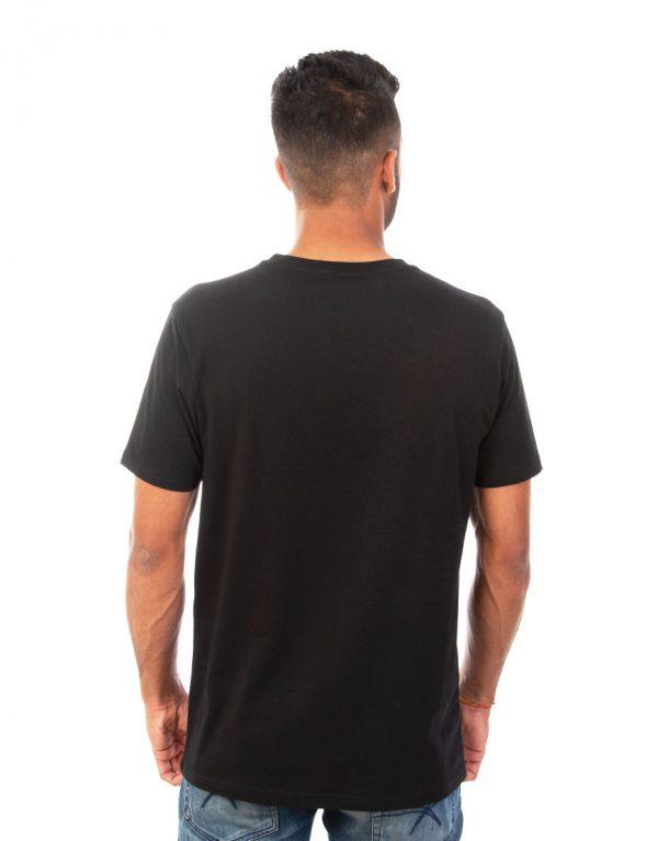 Men Black T-shirt back