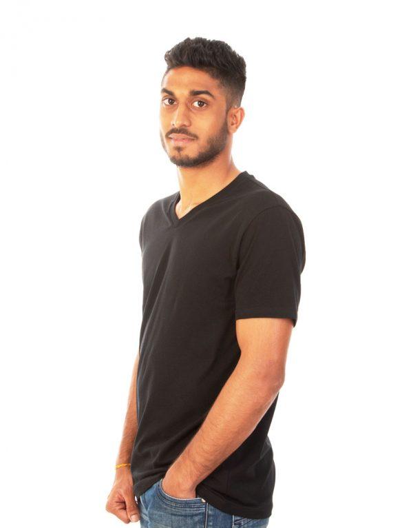 Men Fitted V-neck T-shirt