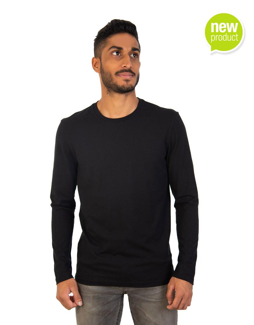 Black long sleeve t-shirt Mauritius