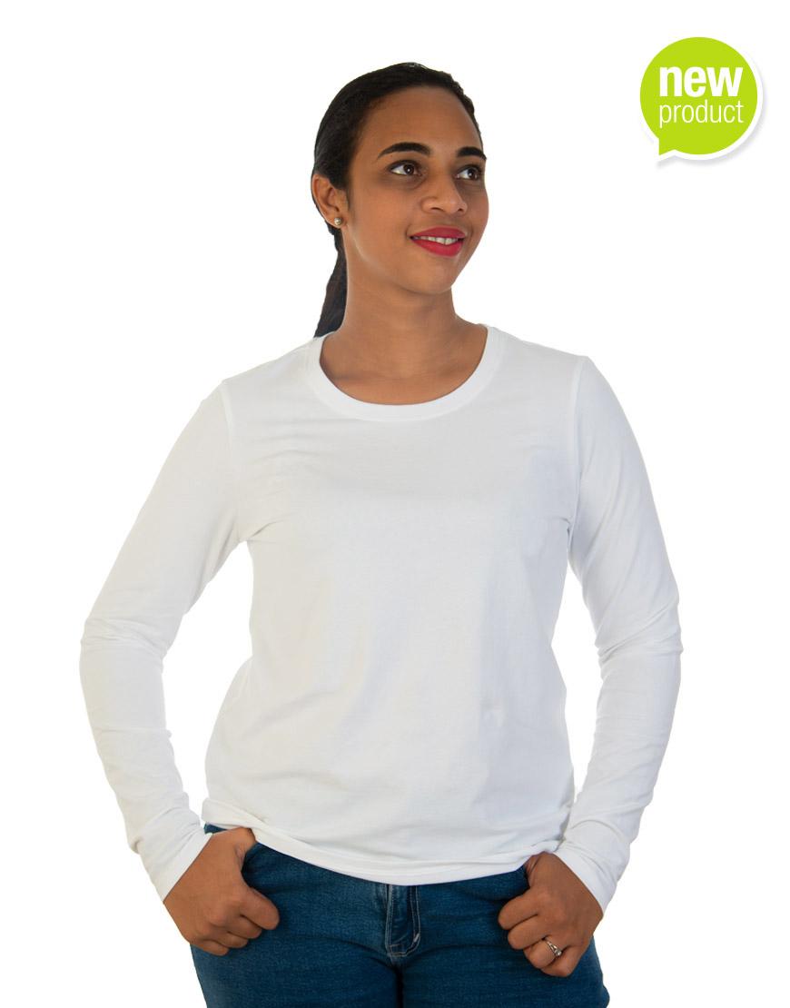 White long sleeve t-shirt for women front
