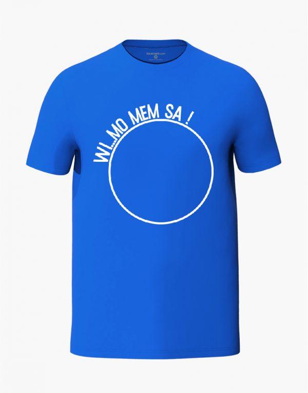 Wi Mo Mem Sa Blue Unisex T-Shirt