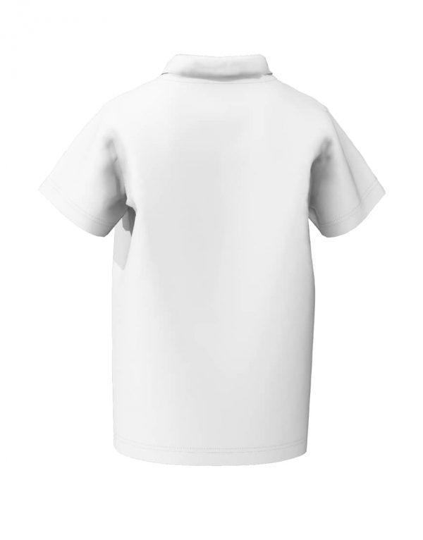 Tweens custom white polo shirt 3D back