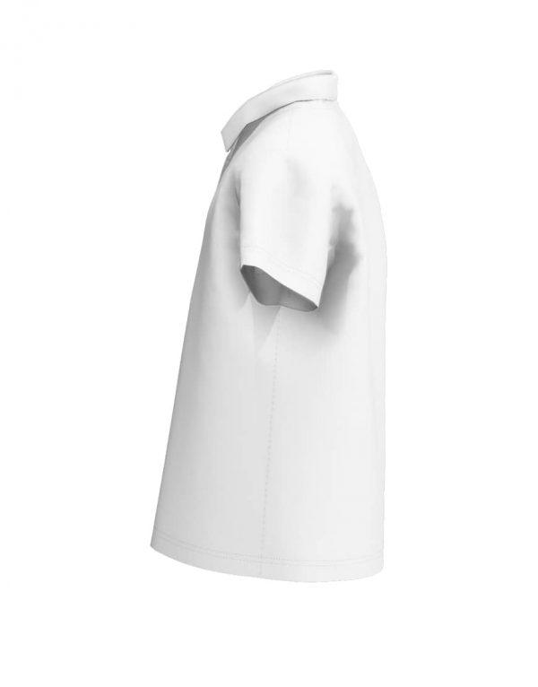 Tweens custom white polo shirt 3D left sleeve